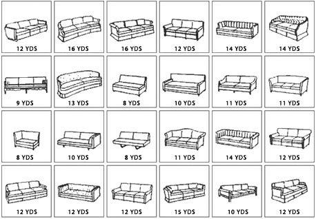 Yardage Guide - Sofas & Couches